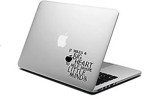 "World Design Big Heart to Shape Little Minds 6"" Laptop Back Decal"