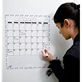 "Dry Erase Blank Monthly Refrigerator Calendar Magnets - 14""x17"" Calendar for kids - B&W"