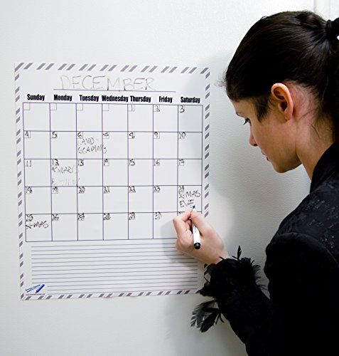 [Dry Erase Blank Monthly Refrigerator Calendar Magnets - 14