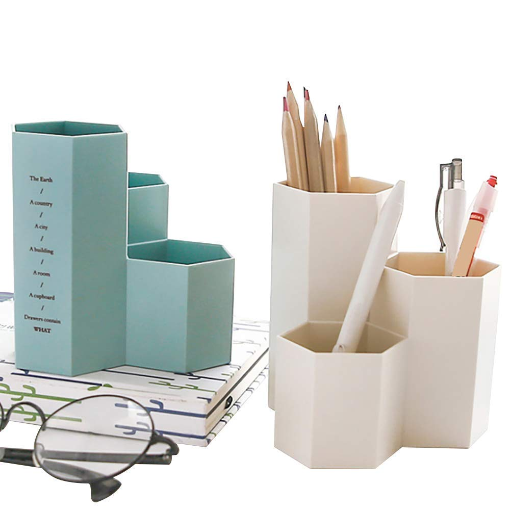 TOOGOO Pen Container Organizer,Desk Top Plastic Pen Holder for Gel Pens Pencils Markers, 3 Pack by TOOGOO (Image #4)