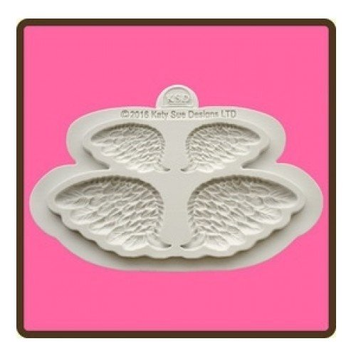 Larger Scale Wings (Katy Sue Design Mat Fondant Cake Icing Embellishment Mould - Wings Pair Mould)