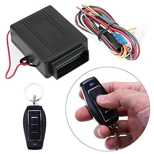 2 Door Remote Protection Keyless Entry Central Lock Locking Kit + Car Alarm - 9
