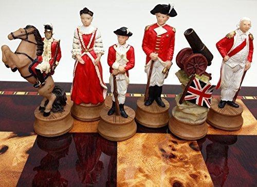 American Revolution / Revolutionary / Independance War Chess Men Set- NO BOARD