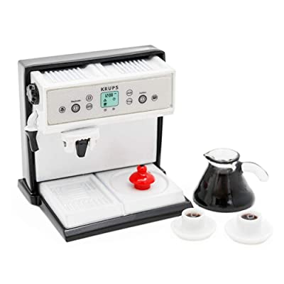 Odoria 1:12 Miniature Coffee Machine with Pot and 2 Cups Dollhouse Kitchen Accessories: Toys & Games