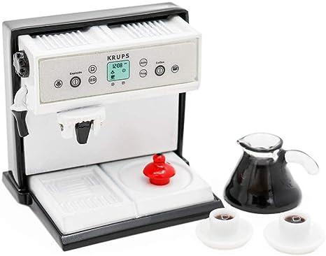 Amazon.es: Odoria 1/12 Miniatura Máquina de café con cafetera y 2 ...