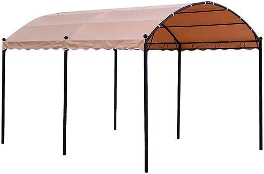 Ldk Garden Pérgola con Estructura de Acero y Cubierta de poliéster 300 X 400 X 250 CM, Beige: Amazon.es: Jardín