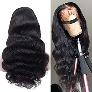 Megalook Lace Front Wigs Human Hair Wigs 20inch Body Wave 360 Lace Frontal Wigs Pre Plucked Hairline Human Hair Lace…
