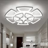 LED Ceiling Lighting Fixture- Contemporary Chandelier for Dining Room, Living Room, and Bedroom: by Velette (Cool, 12 Heads) Review
