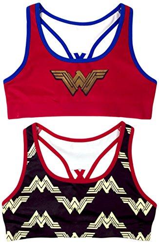DC Comics 2-Pack Wonder Woman Girls Seamless Bra