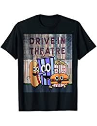 Drive-In Theatre and Snacks T-Shirt, Drive-in Movie Theater