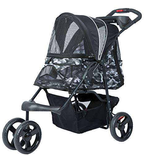 PETIQUE Pet Stroller, Black Camo, One Size