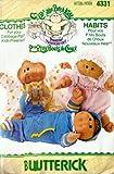 Butterick 4331 Sewing Pattern, Vintage, Cabbage Patch Kids Preemies, Dress Coat Top Pants Panties Bonnet