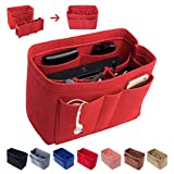 Felt Insert Bag Organizer Purse Organizer, Handbag Bag in Bag for Speedy Neverful Longchamp,X-Large,Red(style 1)