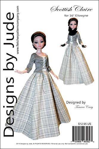 Outlander Scottish Claire Doll Clothes Sewing Pattern for 16
