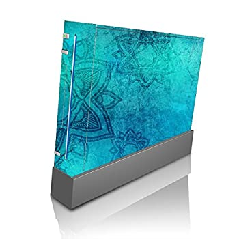 Mandala Blue Vintage Grunge Wii Console Vinyl Decal Sticker Skin by Moonlight Printing