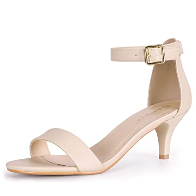 quite nice save off new styles Allegra K Women's Kitten Heel Ankle Strap Open Toe Sandals