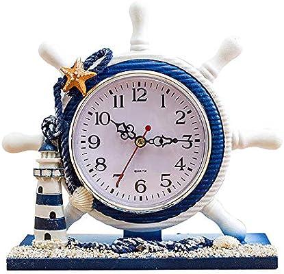 MAOZHE Relojes de sobremesa Reloj de Mesa de Cuarzo de pie Reloj ...
