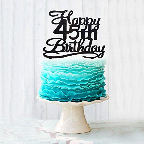 45 number cake topper - 4