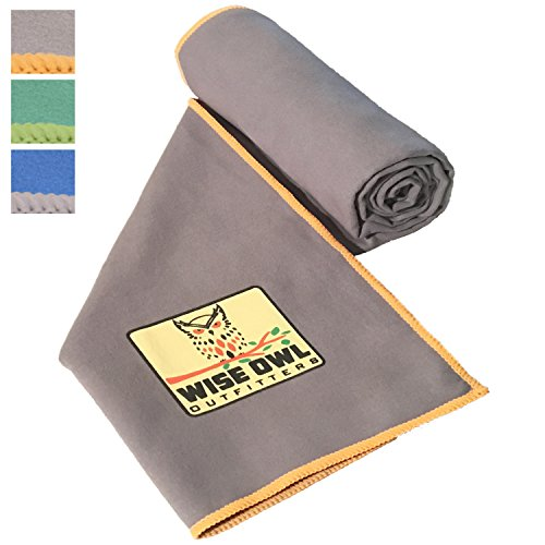 Fitness Towel - Set of Two Towels - Great for All Sports,Camping, Hiking, Yoga, Running And The Gym Or For Your Camp Survival Backpacking Outdoor Or Zombie Gear Bag Too - Large & XL Size 30x60 GY