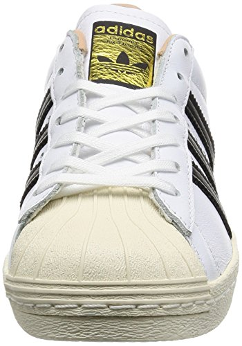 adidas Womens Superstar 80s White Leather Trainers 8.5 US 0KIXtHgys
