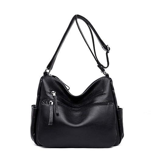 0bd9a6dce0 Hynbase Lady s Packet Leisure Handbag PU Leather Shoulder Cross Boby Bags  Black