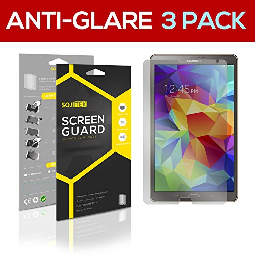 SOJITEK Samsung Galaxy Tab S 8.4 SM-T700 T705 Premium Anti-Glare Anti-fingerprint Matte Screen Protector [3-Pack] - Lifetime Replacements Warranty + Retail Packaging