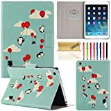iPad Mini/ Mini Retina/ Mini 3 Case, Dteck(TM) Ultra Slim Cartoon Cute Design Flip Stand Leather Magnetic Case [Auto Wake/Sleep Function] Smart Cover for Apple iPad Mini 3/2/1 (02 Penguin with Ballon)