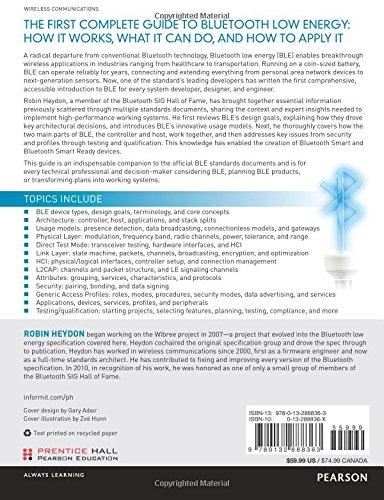 Bluetooth Low Energy: The Developers Handbook: Amazon.es: Robin Heydon: Libros en idiomas extranjeros