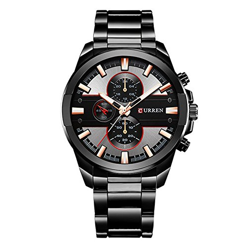 CURREN Original Men's Sports Waterproof Stainless Steel Band Quartz Wrist Watch 8274