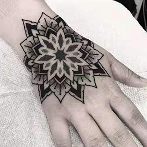 ljmljm 3pcs Tatuaje Impermeable Etiqueta engomada Rosa Tatuada ...