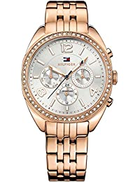1781572 Rose Gold-Tone Ladies Watch - Silver Dial