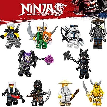 Blocks Hero Ninja Royals Go - New 2019 Best Ninjas Warriors Heroes w/Weapons! Cool Mini Figure Toys for Kids