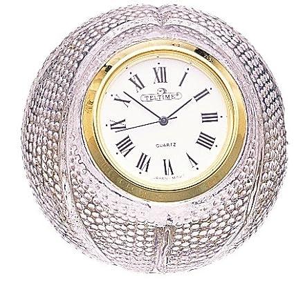 Oficina escritorio mesa reloj de cristal al plomo: Amazon.es ...