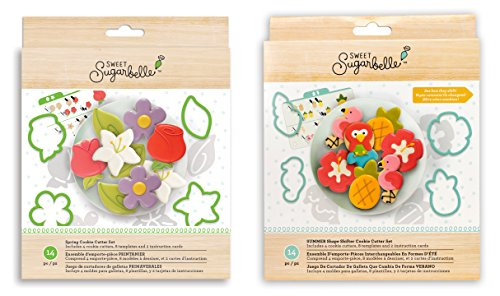 Sweet Sugarbelle - Spring and Summer Shape Shifter Sets - Beach, Ocean and Flower Cookie Cutters, Templates and Instruction Cards (Cookies Flowers)