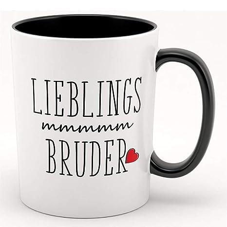 Lieblings Bruder Kaffeebecher Tasse Mit Motiv Tolles Geschenk Für Familie Freunde Schwester Bruder Geschwister