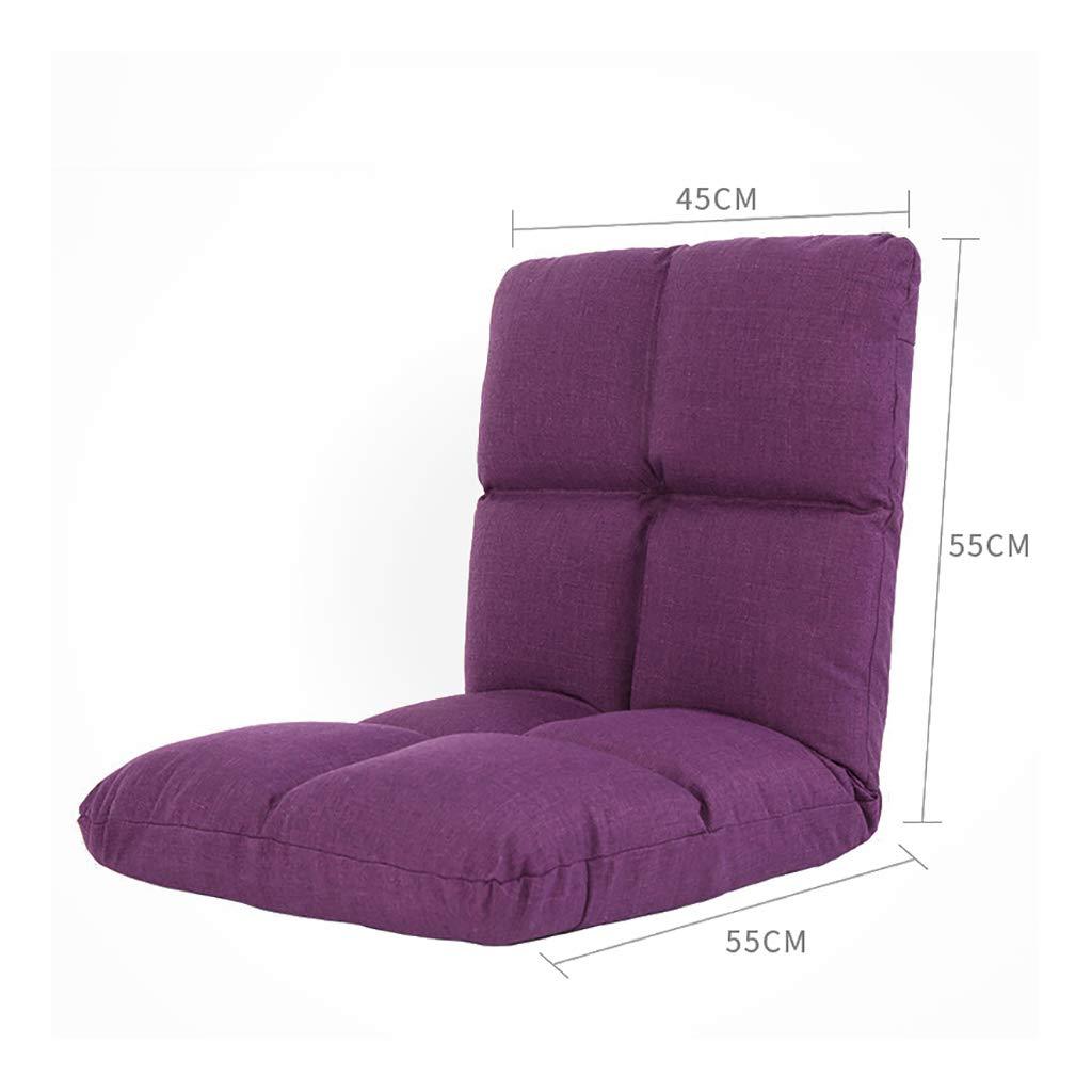 MDBLYJ Lazy Sofa Faltbare Computer Rückenlehne Stuhlboden Sofa Bay Fenstersessel, (Farbe   B, größe   12g) A 8g