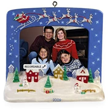 Amazon.com: Christmas Village Photo Holder Recordable 2009 Hallmark ...