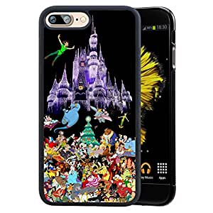 disney all characters iphone 7 plus 5 5 case onelee disney all characters black. Black Bedroom Furniture Sets. Home Design Ideas