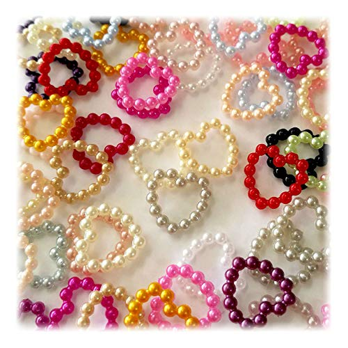 (Summer-Ray 1000pcs Mixed Colors Acrylic Pearlized Beaded Heart Value)