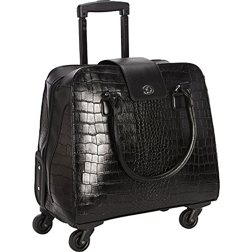 Crocodile Rolling Carry On Trolley Bag - Wheeled travel, work, and weekend tote. by Hang Accessories