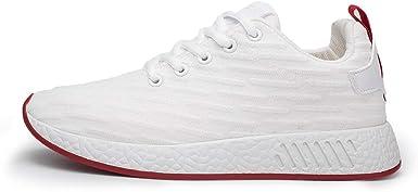 Jorich Zapatillas De Running para Hombre,Zapatos para Caminar,Calzado De Correr,Zapatos Deportivos,Sneakers Ligero Zapatillas Deporte Hombre Zapatos para Correr (Blanco, EU:41 25.5cm/10