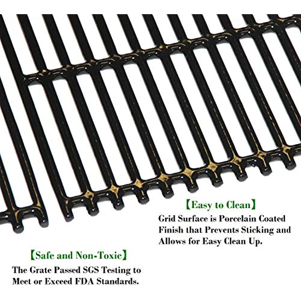 Details about 6 6/66 Inch Porcelain Coated Cast Iron Grill Grates  Replacement For Charbroil