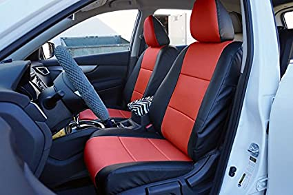 NISSAN ROGUE(NOT SELECT) 2013 2017 BLACK/RED Artificial Leather Custom Made