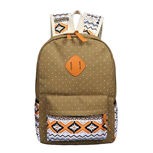 Bag Casual Clutch Women Purse Shoulder Outsta 3 Travel Khaki Girl Crossbody Canvas School Bag Daypack Backpack Sets Blue Tote Handbag Shoulder 71gawqxgP