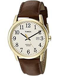 Men's TW2P75800 Easy Reader Brown/Gold-Tone/Cream Leather Strap Watch