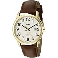 Men's TW2P75800 Easy Reader Gold-Tone Brown Leather Strap Watch