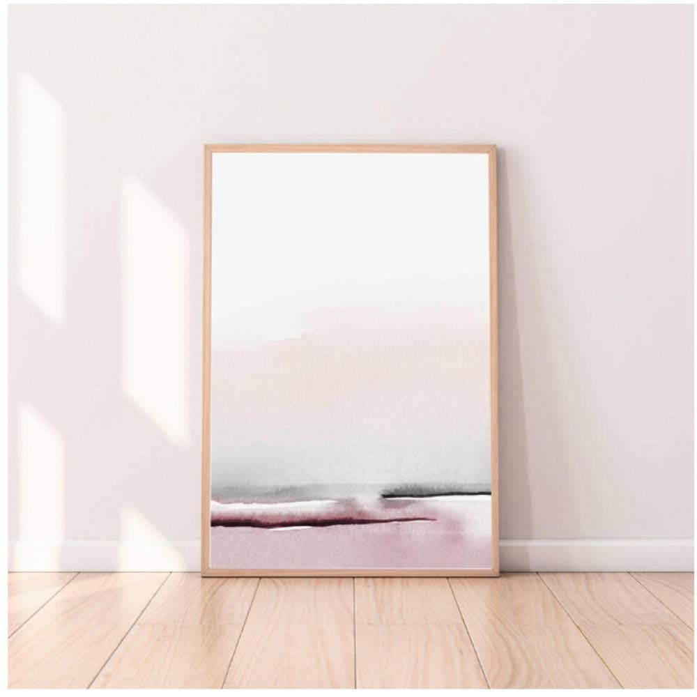Bedroom Decor Abstract Painting Wall Art Canvas Poster and Print Blush Pink and Gray Art Painting Wall Pictures Home Decoration-50x70cmx2 No Frame