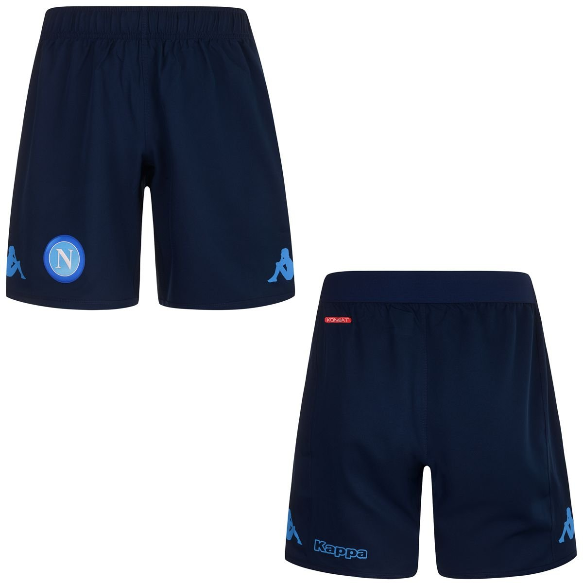 2017-2018 Napoli Kappa Third Shorts (Navy) B074C2LFCVNavy Large Adults