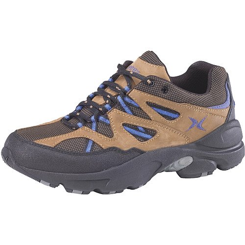 Apex Women's Sierra Trail Running Shoe - Brown/Blue 8.5 E US by Aetrex