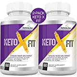 (2-Pack) Keto X Fit Keto Pills Boost Pure BHB Ketogenic Supplement 800mg Exogenous Ketones Ketosis for Men Women 2 Bottles